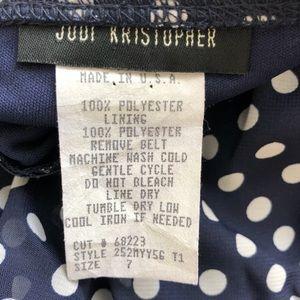 Judi Kristopher Dresses - Judi Kristopher Tiered Polka Dot Midi Dress